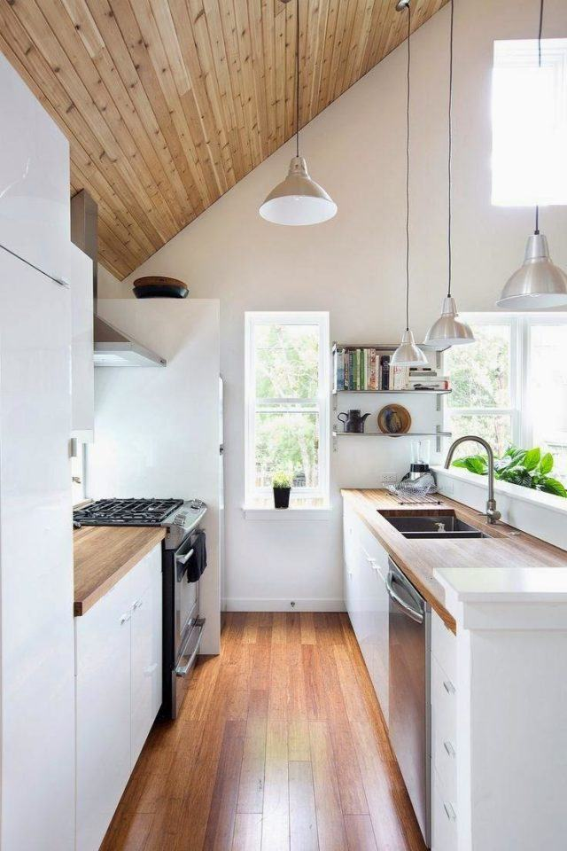 small kitchens-with-high ceilings