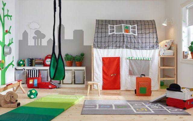 Colores para los dormitorios infantiles for Habitacion estilo escandinavo