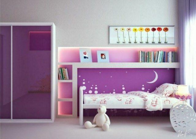 Habitaciones Infantiles Color Lila.Colores Para Los Dormitorios Infantiles Espaciohogar Com
