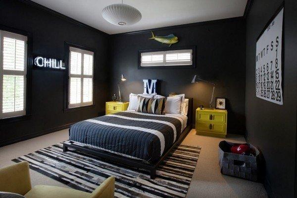 colores-para-cuartos-juveniles-paredes-negras
