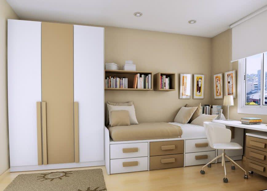 Colores para cuartos juveniles tonos tierra blanco - Dormitorios infantiles blancos ...