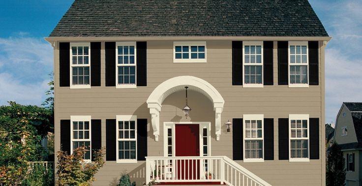Colores para las casas con estilo exterior color arena for Colores para techos de casas