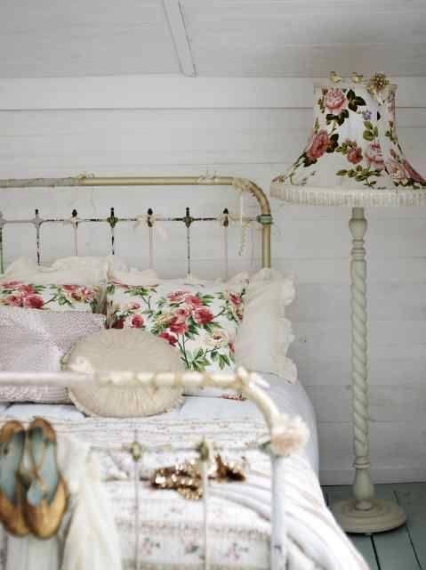dormitorios-estilo-vintage-lamparas
