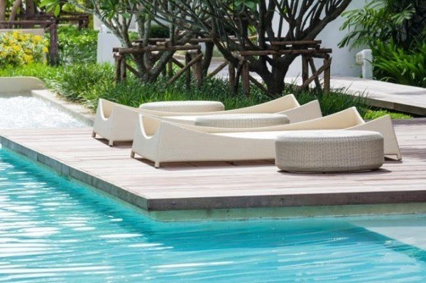 De 100 fotos con ideas de decoraci n de jardines for Jardines con piscinas desmontables
