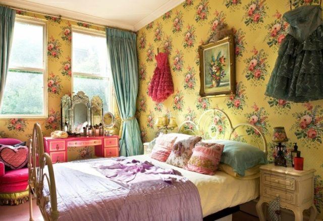 dormitorio-estilo-vintage-color