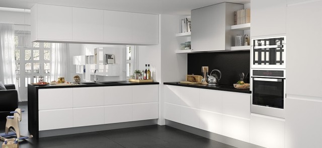 El cat logo de cocinas el corte ingl s 2018 for Cocina con electrodomesticos de color negro