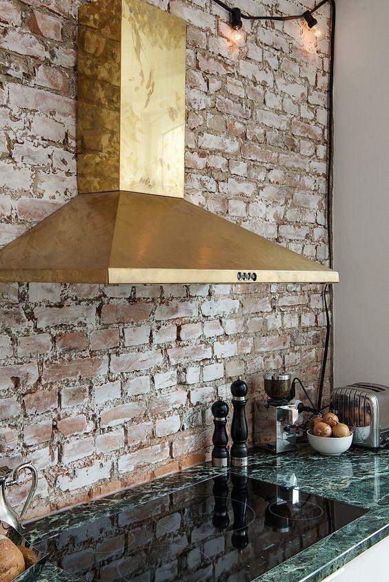 cocinas de obra con campanas extractoras modernas