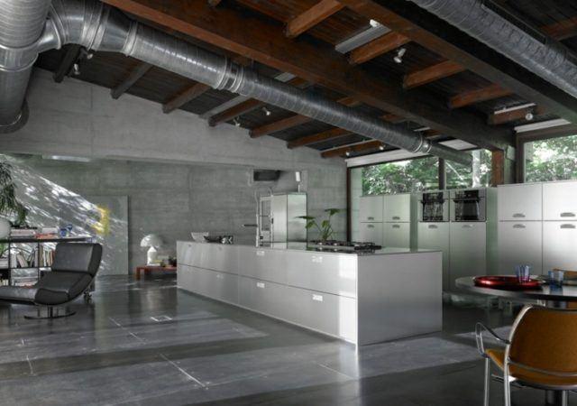 M s de 100 fotos de cocinas con isla central for Planos de cocinas grandes