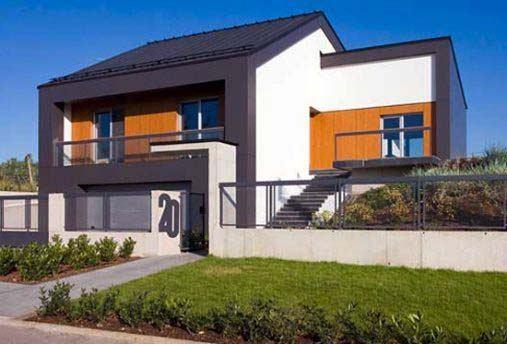 50 fotos e ideas de colores para fachadas de casas y - Jardines exteriores de casas modernas ...