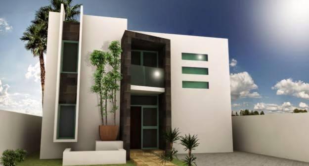 M s de 200 fotos de fachadas de casas modernas y bonitas for Fachada minimalista una planta