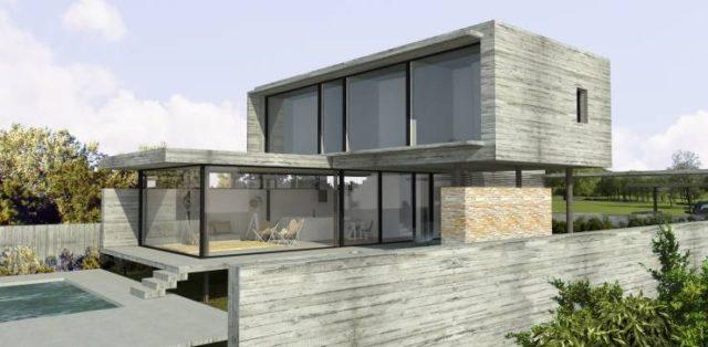 fotos-fachadas-casas-mas-bonitas-modernas-del-mundo-casa-minimalista-varias-plantas-gris