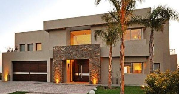 photos-facades-houses-more-beautiful-modern-of-the-world-modern-house-brown-with-stone