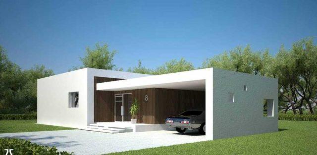 M s de 200 fotos de fachadas de casas modernas y bonitas for Modelos de casa estilo minimalista