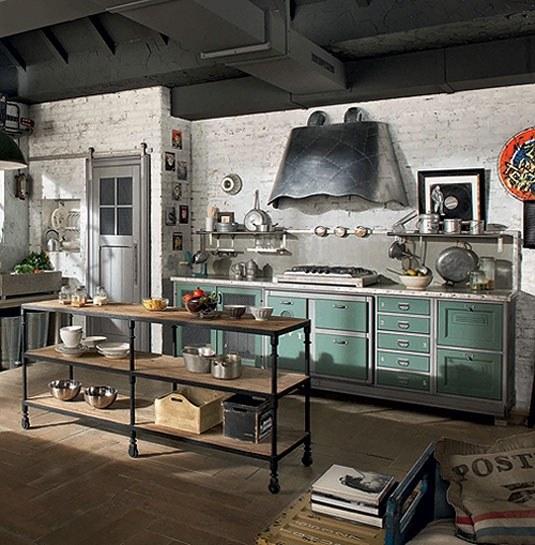 ideas-para-decorar-una-cocina-estilo-vintage-campana