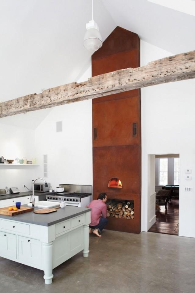 ideas-para-decorar-una-cocina-estilo-vintage-estufa-de-leña