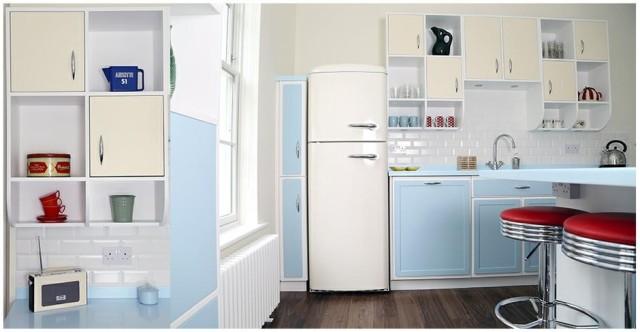 ideas-para-decorar-una-cocina-estilo-vintage-taburetes