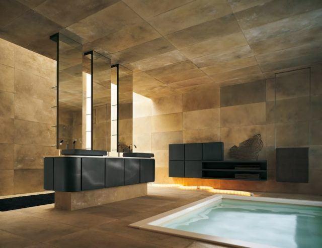 Jacuzzi Banos Modernos Grandes.Baos Grandes Modernos Interiores Baos Espejo Grande Ideas
