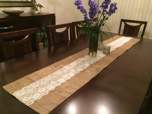 M s de 100 fotos con ideas de caminos de mesa para decorar - Camino de mesa elegante en crochet ...