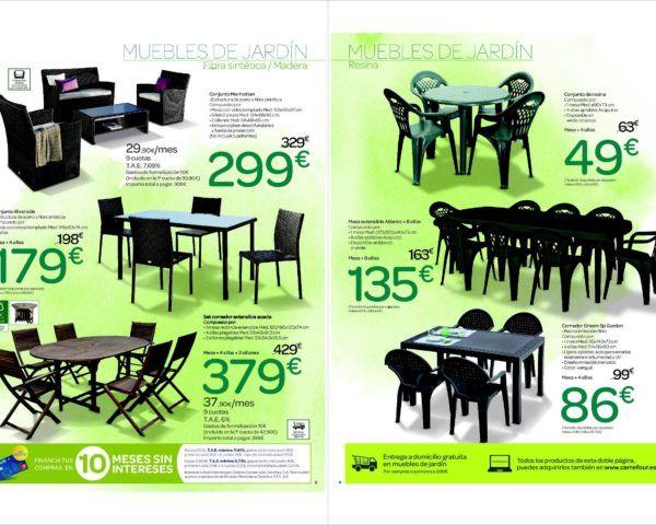 Catálogo Carrefour muebles de jardín 2017