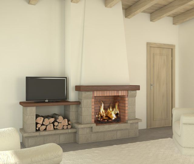 100 fotos con ideas de chimeneas r sticas - Decoracion de chimeneas en salones ...