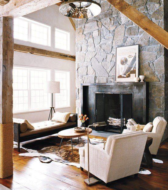 chimeneas-rusticas-diseño-moderno-pared-de-piedra