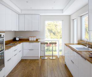 Más de 100 fotos de decoración de Cocinas Blancas y Grises Modernas