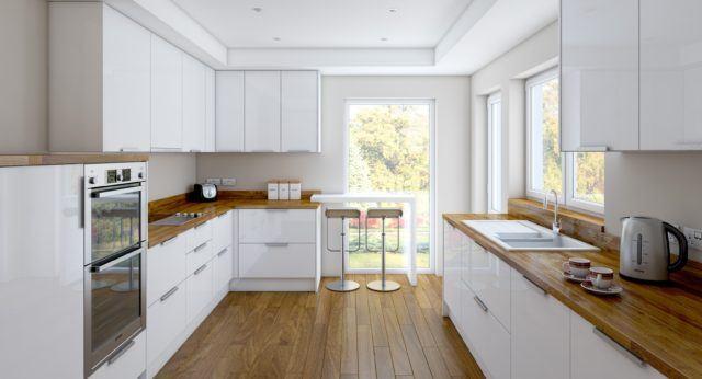 M s de 100 fotos de decoraci n de cocinas blancas y grises - Cocinas con electrodomesticos blancos ...