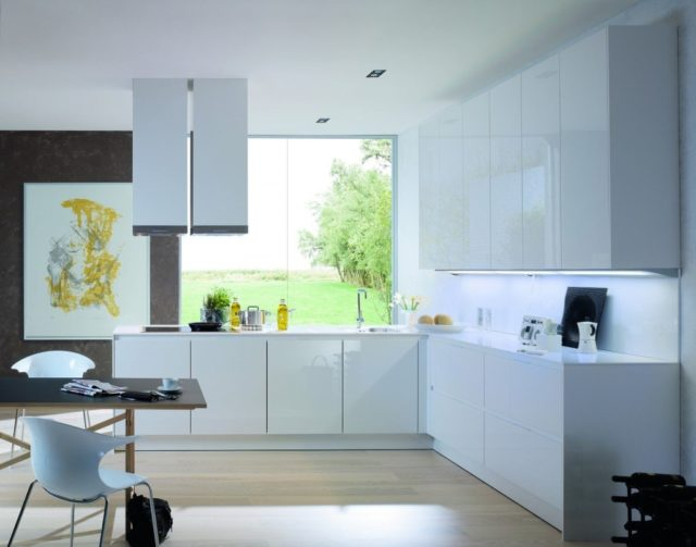 Cocinas blancas, amplias y luminosas   espaciohogar.com