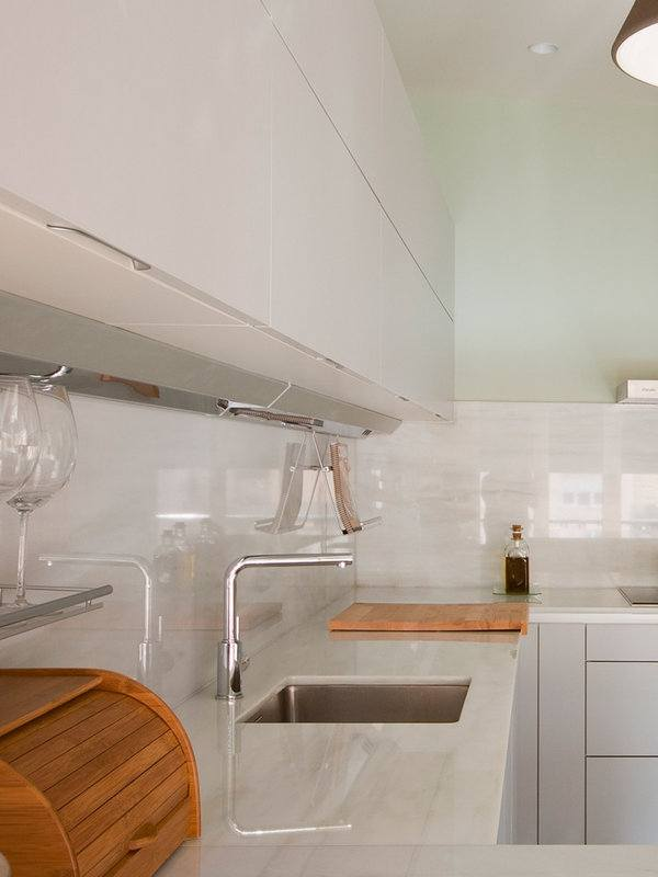 De 100 fotos de decoración de Cocinas Blancas y Grises Modernas