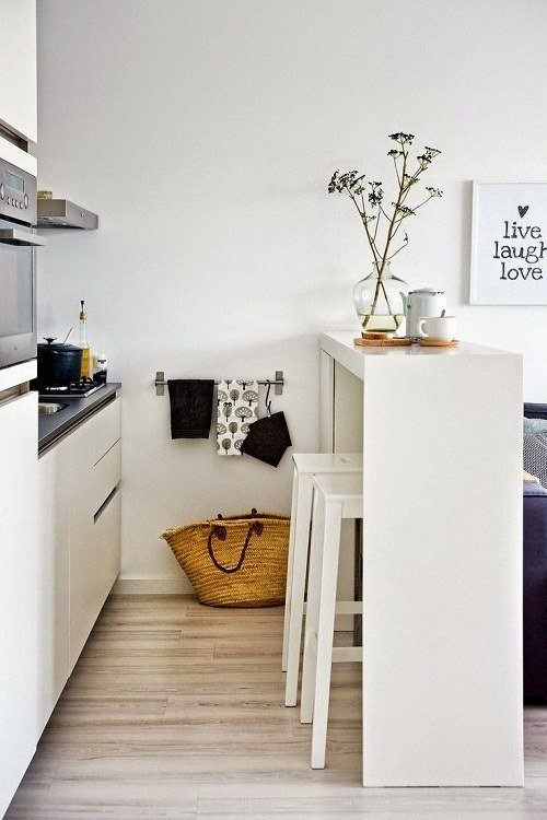 Kitchens-modern-small-white-with-island