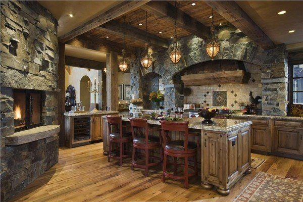 kitchens-rustic-as-decorate-lanterns