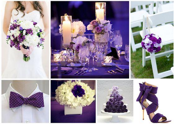 Los colores mas bonitos para decorar una boda en 2017 - Colores que combinan con lila ...