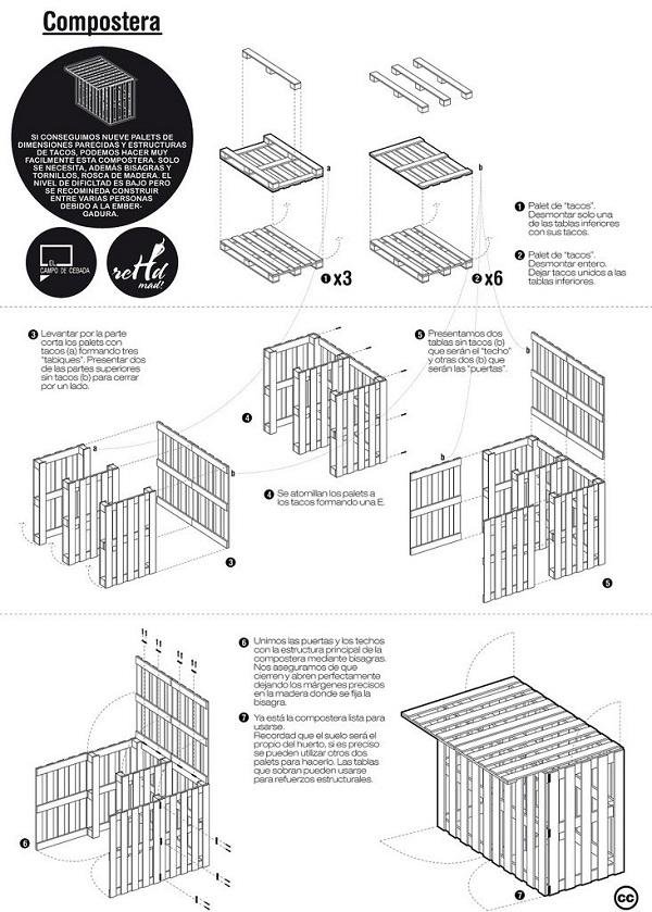 De 100 ideas de c mo hacer muebles hechos con palets for Planos para hacer muebles