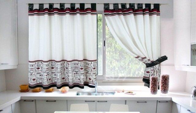 de 100 fotos de cortinas de cocina modernas