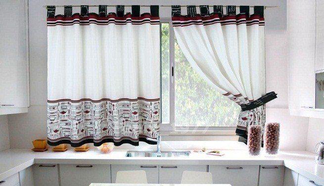 De 100 fotos de cortinas de cocina modernas for Modelos de cortinas modernas