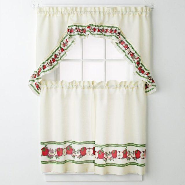 M s de 100 fotos de cortinas de cocina modernas for Telas de cocina