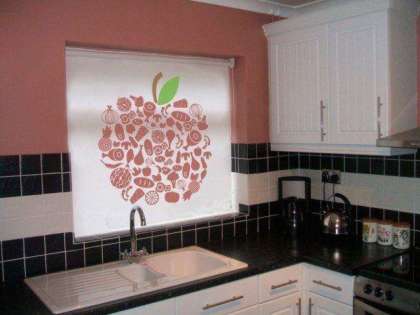 De 100 fotos de cortinas de cocina modernas - Estores enrollables cocina ...