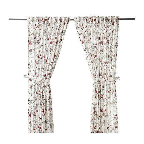 cortinas-para-cocina-ikea-cortina-blanca-flores