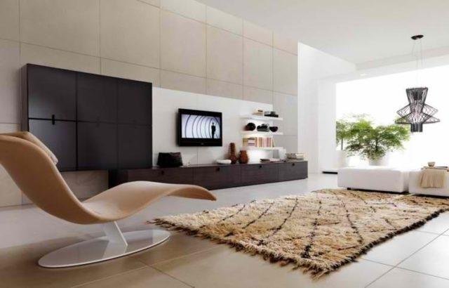 decoracion-de-salones-modernos-alfombras-beige
