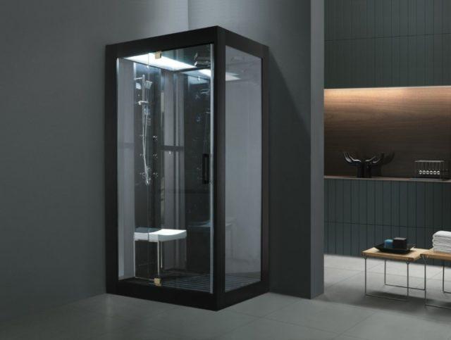 bao moderno con cabina de ducha