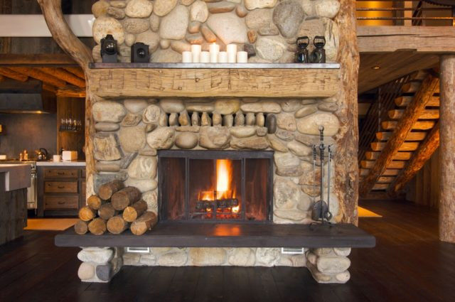 100 photos with ideas of rustic fireplaces - Fotos de chimeneas rusticas ...