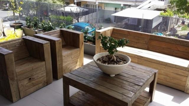 M s de 100 ideas de muebles hechos con palets reciclados - Mobiliario con palets ...
