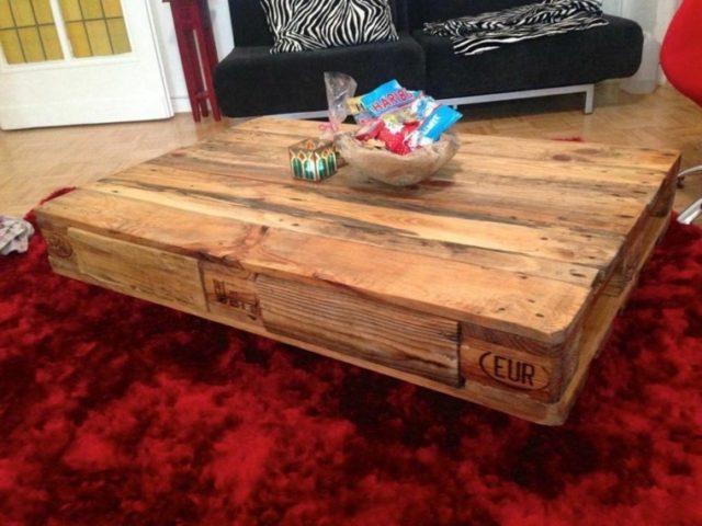 muebles con palets mesa baja - Muebles Palets