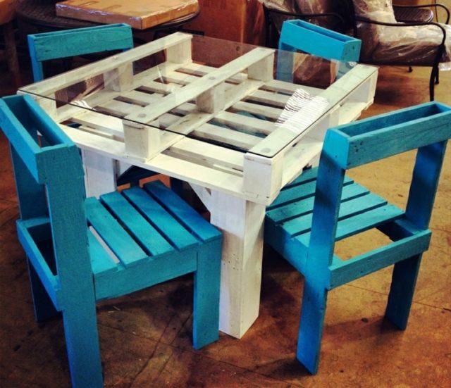 muebles con palets mesa para ninos - Muebles Con Palets