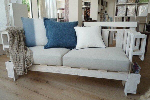 De 100 ideas de c mo hacer muebles hechos con palets - Como hacer un sofa de palets ...