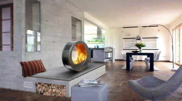 salones-modernos-con-chimenea-forma-rueda