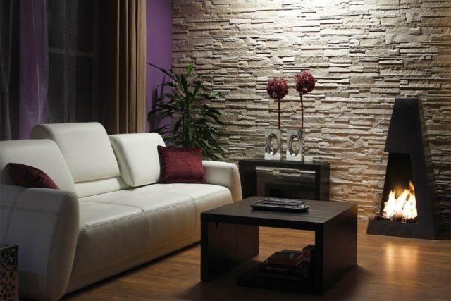 salones modernos con chimenea portatil - Decoracion De Salones Con Chimenea