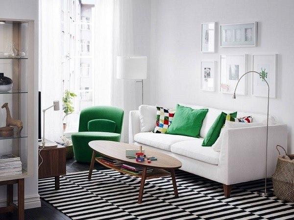 salones-modernos-ikea-sofa-blanco