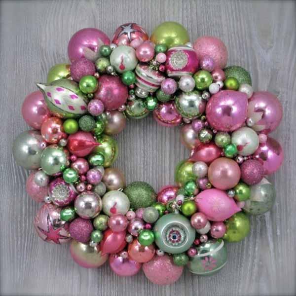 coronas-de-navidad-bolas-rosa-verde