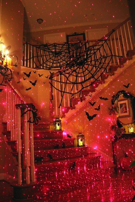 Halloween decorations-house-for-stairs